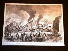 Arsenale di Metz nel 1869 Esplosione dell'Officina delle cartuccie Chassepot
