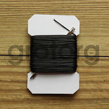 15m VERY STRONG LEATHER SEWING THREAD 1mm THICK PLUS 2 BLUNT NEEDLES