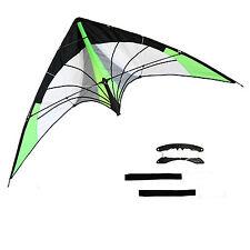 "Stunt Kite Sky Dancer - Neon Green. Proffesional Straps, 69"" W Free Shipping"