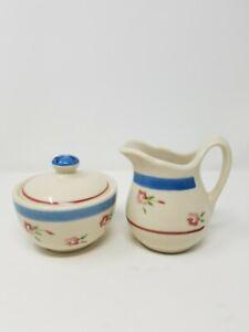 Vtg 1996 restaurant ware creamer and sugar bowl stonewear
