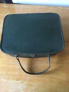 Original Vintage Green  1960's Vinyl Vanity Case