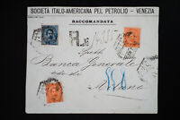 Italy 1800's Registered Stamped Cover