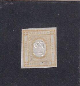 ITALIA ITALIAN STATES REGNO 1862 2c GIALLO* MH - NUOVO CON GOMMA