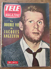 ANCIEN TELE MAGAZINE 1962 JACQUES ANGELVIN JOHNNY HALLIDAY