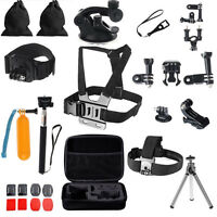 30in1 Pole Head Chest Mount Strap GoPro Hero 2 33+ 4 Camera Accessories Set Kit