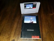 Mystic Quest 100% Authentic Super Nintendo SNES RARE Cartridge manual