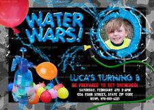 Personalize Water Wars invitation, Splash Party, Water Balloon Invite