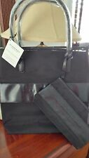 Burberry Fragrance Black Nylon Mesh Shoulder Large Tote with Matching Pouch