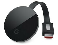 Google Chromecast Ultra Latest Model Black Digital Media Streamer 4K Genuine