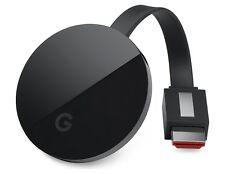Google Chromecast Ultra último Modelo Negro transmisor de medios digitales 4K Original