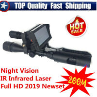 Pro Night Vision Screen Monitor Optics Tactical Infrared Laser For Rifle Scope