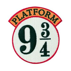 Harry Potter Platform 9 3/4 Iron On Patch White