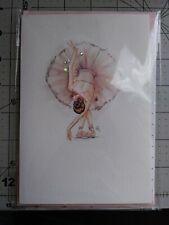 Hallmark Signature 3D Jeweled Bowing Ballerina Card Blank Inside