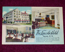 1930-1945 Linen Vintage Postcard The Lincoln Hotel Lincoln N. H. Building