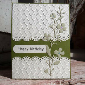 Cover Lace Design Metal Cutting Die For DIY Scrapbooking Album Paper Card Oh