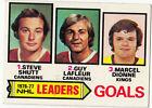 1977-78 TOPPS HOCKEY CARD #! NHL LEADERS GOALS, SHUTT, LAFLEUR DIONNE -NM