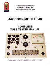 The Jackson Model 648 Complete Tube Tester Manual