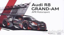 2013 APR Motorsport #51 Audi R8 GT Rolex 24 Grand Am postcard