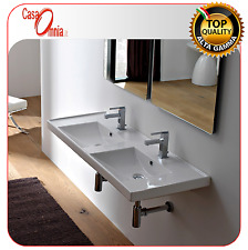 """BUILT-IN OR WALL-MOUNTED WASHBASIN - SCARABEO """"ML"""" DOUBLE BASIN"""
