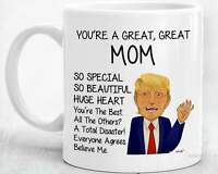 Mom Gifts For Mom Coffee Mug Mothers Day Gift From Daughter Son Funny Trump Mom