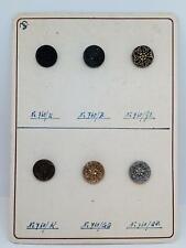 Vintage Max Stumpe & Sohn Glassworks Buttons Salesman Sample Card Old German VGC