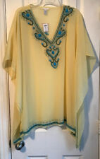 Chico's Yellow Mazie Embellished Poncho Size S/M NWT