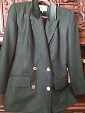 Amanda Smith Wool Green Blazer Jacket  Size 6 St.Patricks Day