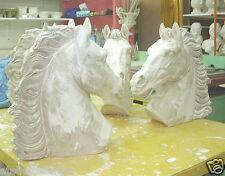 Horse  buste de cheval en plâtre teinté 43 cm ref 2017