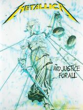 Metallica Flag And Justice For All White Textile 77 x 105cm