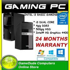 INTEL i3-4170 Dual Core 3.7GHz Gaming PC Computer 4GB ram 500gb HDD Intel HD4400