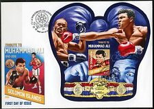 SOLOMON ISLANDS 2016 TRIBUTE TO MUHAMMAD ALI  SOUVENIR SHEET FDC