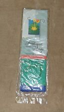 "Toland Nylon Applique Garden Flag Banner 11"" x 15"" Frog Folly - Lilly Pad Sun"