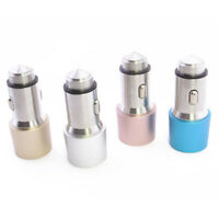 Dual USB 2 Port Car Charger Adapter Bullet Safety Hammer For Cell Phone 3.1 A
