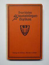 Stone presence, the small citizen-Lexicon, A. Vollmer, Münster UM 1920