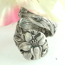 Sterling Silver Spoon Ring Lily FRONTENAC Size Medium-Custom Silverware Jewelry