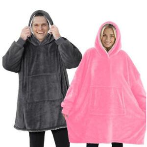 NEW Hoodie Blanket Oversized Ultra Plush Sherpa Giant Big Hooded Sweatshirt UK