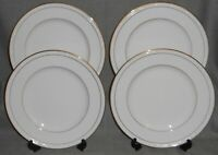 Set (4) NORITAKE White Scapes LOCKLEIGH PATTERN Dinner Plates