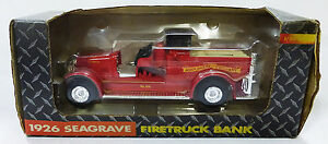 John Deere company made in 1992 firetruck 1926 seagrave bank red