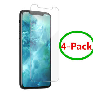 4X Premium Real Tempered Glass Screen Protector For iPhone 12 11 Pro XS Max XR 7