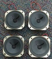 "4 lot  pcs 16 ohm 1 watt 3"" Round Radio Speaker 1"" shallow profile Japan NOS"