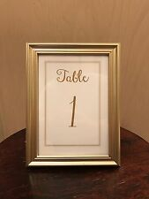 Champagne Gold Wedding Collection Frame with Table Numbers 5 inch by 7inch