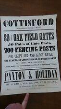 More details for 1886  cottisford  bicester oxford sale poster pub decoration letterpress
