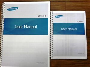 ~PRINTED~ Samsung Galaxy Fame GT-S6810 manual full user guide COLOUR A4 or A5