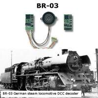 BR-03 German steam locomotive SoundGT2.1 DCC decoder for Roco,Piko, Marklin etc
