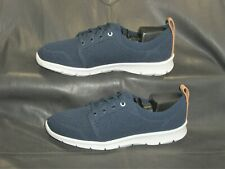Clarks Cloudsteppers blue lace up mesh fabric oxfords Women's shoes size US 6 M