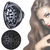 Pro Black Universal Blower Hairdressing Salon Curly Hair Dryer Diffuser-