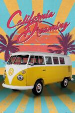 Classic Volkswagen Camper Bus Van CALIFORNIA DREAMING Amazing Wall POSTER