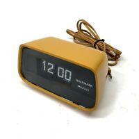 Vtg Hallmark Ricoh Digital Flip Alarm Clock 3600 Mid Century Retro Orange -ish