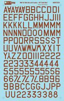RAF or FAA aircraft squadron codes - Dull Red - 1/72 scale Aviaeology Decals