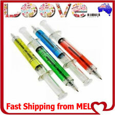 4x Syringe Pens Kids School Medical Nurse Doctor Novelty Gift Liquid Party Fun